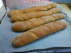 Homemade french baguettes #bagety#baking