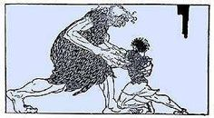 Thor wrestles with Elli