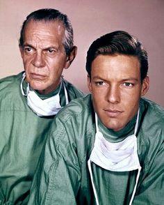Dr.  Kildare (1961–1966) - Cast and history: http://www.imdb.com/title/tt0054535/  Theme music: http://youtu.be/gGPPLvhQpyI