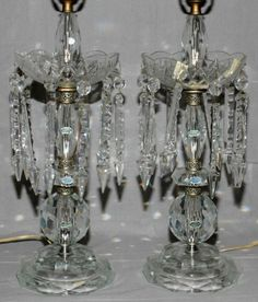 """crystal table lamps and hanging lamps 