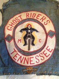 Vintage Motorcycle Club Vest Ghost Riders 1