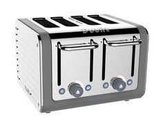 Four slice silver Dualit toaster. #Dualit #Toaster