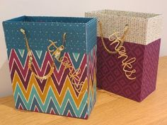 Large Gift Bag Tutorial using Bohemian DSP from Stampin Up - YouTube