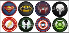 Set of 8 Handcrafted Superhero Knobs by TheCharacterChest on Etsy, $21.99