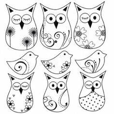 Anmutige Kratzer (süße Zeichnungen): Owls Scratches - Every Non Diy Plastique Fou, Colouring Pages, Coloring Books, Shrink Art, Owl Crafts, Owl Bird, Cute Owl, Digi Stamps, Rock Art