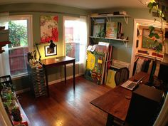 home office, music studio, and art studio by platetone, via Flickr