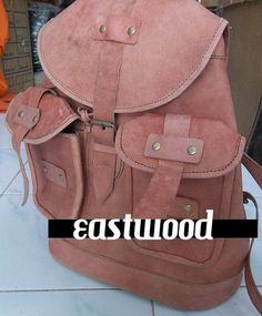 backpack made from cow leather by eastwoodculture on Etsy, $114.00