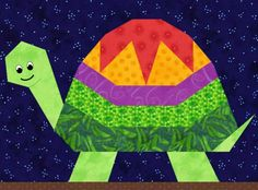 Pieced Turtle Quilt Pattern | Turtle Paper Pieced ... by PieceByNumber | Quilting Pattern
