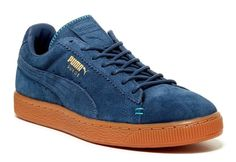 PUMA Men's Suede Classic Crafted Sneaker  ,DARK DENIM-BLUEBIRD, MSRP $80.00 #PUMA #FashionSneakers