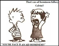 Image Result For Ad Hominem Fallacy