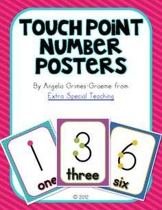 Touch Point Number Posters--This has a lot of teacher made smart board items, too.  Teachers Paying Teachers---very cool.