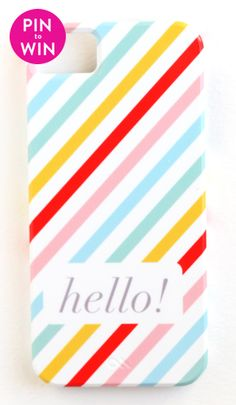Hello iPhone 4/4S or 5 Case by Pencil Shavings Studio #BRIKApintowin