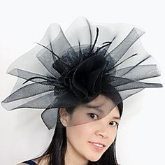 Women's+Feather+Tulle+Net+Headpiece-Wedding+Special+Occasion+Fascinators+1+Piece+–+USD+$+20.00