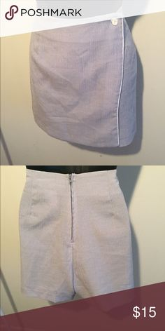 """Vintage """"Unknown"""" Skort Color: sky blue and white. Size: 7/8. Material: rayon and polyester. Measurements: waist 15"""" length 16"""". Shorts Skorts"""