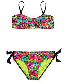 Floral Bikini Swimsuit (original price, available at Swimsuits 2017, Plus Size Swimsuits, Cute Swimsuits, Cute Bikinis, Women Swimsuits, Justice Swimsuits, Girl Outfits, Cute Outfits, Justice Clothing