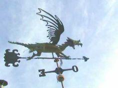 Dragón Verde Feng Shui weathervane Whirligigs