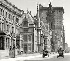 The Vanderbilt Mansions on Fifth Avenue, New York City.