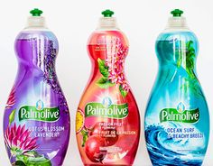 New line of dish soap for Palmolive that offer exciting scent combinations with a burst of color
