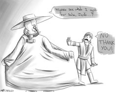 Cad Bane shows the Jedi his wares.. by TheBeastyDragoness