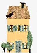 yellow house Paste