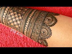 Wedding Special Simple Dulhan Mehndi Design||Full Back Hand Mehdi Design||Easy Bridal Mehndi Designs - YouTube Very Simple Mehndi Designs, Back Hand Mehndi Designs, Latest Bridal Mehndi Designs, Full Hand Mehndi Designs, Mehndi Designs 2018, Mehndi Designs Book, Mehndi Designs For Girls, Mehndi Designs For Beginners, Mehndi Design Photos
