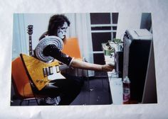 "Kiss Ace Frehley 1975 1976 Era Color Photo not Aucoin 18"" x 12"" | eBay"