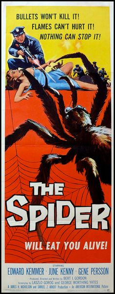 The Spider aka Earth vs. the Spider (1958) starring Edward Kemmer, June Kenny & Gene Persson