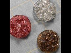 Polymer Clay Faux Druzy Stone tutorial - YouTube