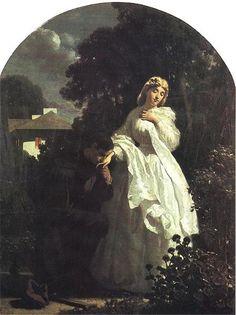 Artur Grottger - Powitanie powstańca, 1865