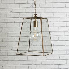 Straight lines, subtle angles and the most simple design combine to make our Luxor lantern impossibly stylish. A case of less is more. Lantern Pendant Lighting, Small Pendant Lights, Glass Pendant Light, Modern Kitchen Lighting, Kitchen Lighting Fixtures, Kitchen Pendant Lighting, Ceiling Lights Uk, Kitchen Ceiling Lights, Luxor
