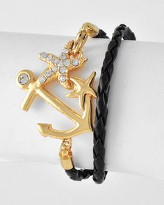 Nautical Anchor Wrap Bracelet from Bows To Toes