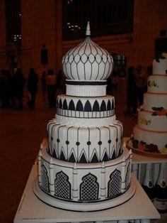 black/white cake