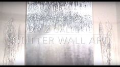 DIY Z Gallerie glitter wall art - YouTube