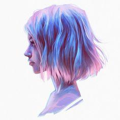 40 Digital Painting Ideas: The Ultimate Beginner's Guide - Free Jupiter Digital Art Girl, Digital Portrait, Portrait Art, Art Anime Fille, Anime Art Girl, Pretty Art, Cute Art, Bel Art, Character Art