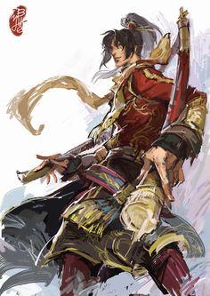 無雙7凌統/一氧化二氫,shin sangoku musou, dynasty warriors, pixiv, ling tong