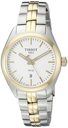 Tissot Women's T1012102203100 Analog Display Quartz Two Tone Watch * Want additional info? Click on the image.