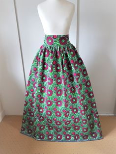 d8c912325c76ac African Printed Maxi Skirt - Wax Print Maxi Skirt - High Waist Maxi -  Printed Maxi skirt - African Clothing - Ankara Maxi Skirt Ankara Print