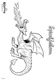 Kleurplaat Sprookjesboom - Draak bewaakt zijn schat - Kleurplaten.nl Coloring Pages To Print, Coloring Pages For Kids, Coloring Sheets, Adult Coloring, Free Preschool, Preschool Printables, Anime Dress, Sword And Sorcery, Art For Kids