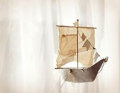 gorgeous hanging boat / ship - perfect for a nursery