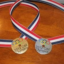 gold and silver medals Olympic preschool craft