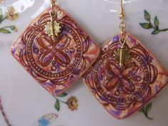 Stamped earrings by Lori Von der Puetten