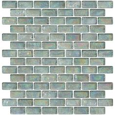 Glass Tile - x 1 Inch Clear Iridescent Glass Subway Tile Subway Tile Colors, Ceramic Subway Tile, Glass Subway Tile, Mosaic Glass, Mosaic Tiles, Glass Tiles, Tiling, Mosaics, White Glass Tile