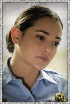 Character: Linda Esquivel Actor: Natalie Martinez With a soft smile but a hard edge, Linda is a young deputy working under the mentorship of Sheriff Duke Perkins. She is trapped under the dome while her fiancé, Rusty Denton, is on the other side. Linda may soon face immense responsibility as the community is rocked by the mysterious dome.