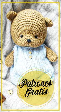 Diseñadora: Olga Lukoshkina Foto: @toys_handmade13 Necesitará: YarnArt Jeans (55% algodón, 45% acrílico, 50 g/160 m) y Alize Miss (100% algodón, 50 g/280 m) hilo Gancho de ganchillo de 2,25 mm y 1,25 mm Ojos de seguridad de 5 mm Hilo negro bordado Aguja de hilo y tijeras Fiberfill Patrón de oso de peluche amigurumi gratis … Crochet Applique Patterns Free, Crochet Patterns Amigurumi, Amigurumi Doll, Crochet Dolls, Crochet Teddy, Crochet Bear, Cute Crochet, Crochet Animals, Crochet Doll Tutorial