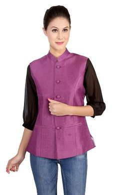 The Nehru collar jacket Ladies Suits 56bf367f1