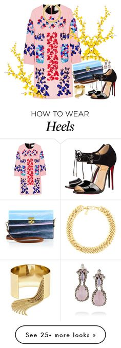 """""""Pink Chic"""" by gabyidc on Polyvore featuring Peter Pilotto, Edie Parker, Erickson Beamon, Christian Louboutin, Yves Saint Laurent and BaubleBar"""