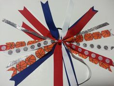 Red White and Blue Basketball Girl Pony O-Basketball Star Streamer by Designs by Denise B, $5.00