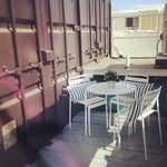 We just love our new patio furniture! #shippingcontainerlife