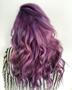 Purple and pink hair @kirstieclassics