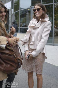 Olivia Palermo the Socialite: Olivia Palermo outside Valentino show